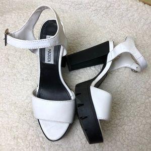 d5424ea308c5 Steve Madden Shoes - Steve Madden Traviss Leather Platform Heel Sandal